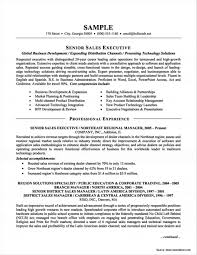 Senior Sales Executive Resume Template Exa