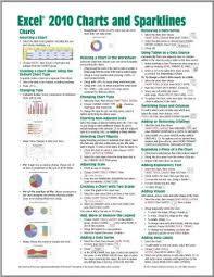 Excel Chart Help 2010 Microsoft Excel 2010 Charts Sparklines Quick Reference Guide