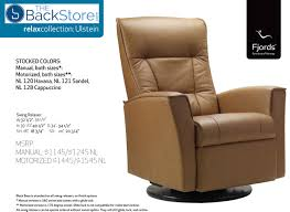 details about fjords ulstein swing relaxer power electric recliner chair sl 224 hassel leather