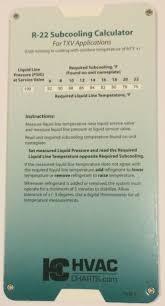 R 22 Superheat Subcooling Calculator Charging Chart Txv Tev