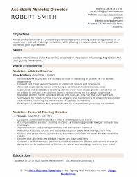 Assistant Athletic Director Resume Samples | Qwikresume