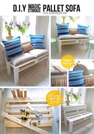 DIY Pallet Furniture Ideas - DIY Magic Storage Pallet Sofa - Best Do It Yourself  Projects
