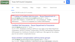 texas self insured