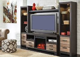 harlinton entertainment center w led fireplace insert signature design by ashley