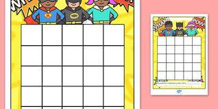 Superhero Sticker Stamp Reward Chart Superhero Sticker