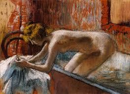 woman leaving her bath 1886 1888 edgar degas oil painting