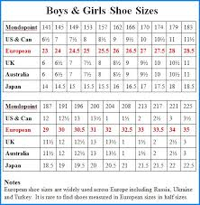 Uk Shoe Size Chart Child 54 Precise Girls Shoe Size Chart Conversion