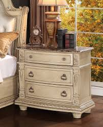 antique white nightstand. Homelegance Palace II Marble Top Nightstand - Antique White D