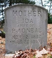 Ida Benson O'Neal (1882-1918) - Find A Grave Memorial