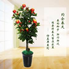 get ations apple cherry fruit tree simulation tree simulation plant tree large living room indoor potted plants artificial