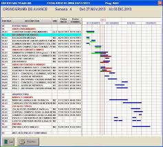 formato cronograma de actividades mensual control de obra tareo diario