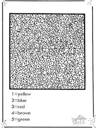 Small Picture Coloring Page Free Printable Color By Number Pages For Adults