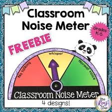 Noise Meter Noise Level Chart In 4 Designs Freebie