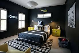 bedroom with black and gray color scheme also low bedding set striped centerpiece ideas for parties