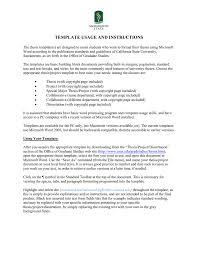Word Thesis Template Template Usage And Instructions Manualzz Com