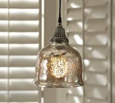 ... Bowl Shaped Mercury Glass Pendant Light Fixtures With Carved Metal  Upper Part Elegant Beautiful ...
