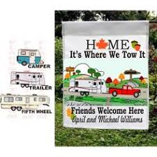 camping garden flag. Modren Camping Personalized Fall Camper Garden Flag Home Is Where We Tow It And Camping Flag