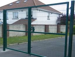 Wire Fence Gate Provides Entrance Exit for Wire Fence