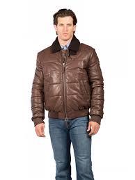 puffy lambskin leather jacket