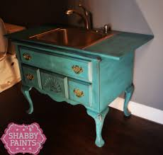 repurpose furniture. repurpose a piece of furniture into sink e