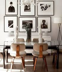 make images the focal point of your dining or living room by installing a gallery wall