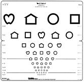 Lea Symbols Eye Chart Printable Visual Acuity Tests