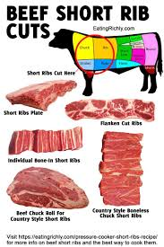 beef short ribs infographic with pressure cooker short ribs