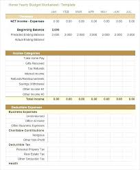 Household Budget Template Printable Home Excel Mac Voipersracing Co