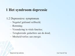 vitale depressie symptomen
