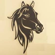 horse head silhouette wall sculpture western metal cut  on western metal wall artwork with horse head silhouette wall sculpture western metal cut out design