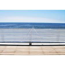 Balcony Fence 3 x 16 standard size mediterranean blue & white patio balcony 3224 by guidejewelry.us