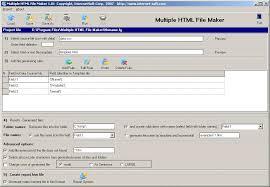 Multiple HTML File Maker