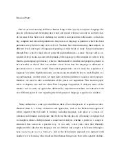 thesis for response to literature