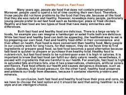 eating healthy foods essay importance of healthy food short paragraph speech essay