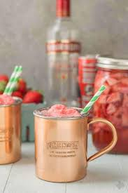 no need to wait for summer to enjoy this delicious and refreshing strawberry moscow mule float