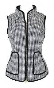 Black and Ivory Houndstooth Quilted Vest Lily Boutique & Black and Ivory Houndstooth Quilted Vest Adamdwight.com