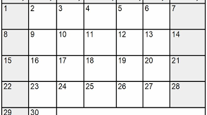 September 2019 Blank Calendar Word Template Latest