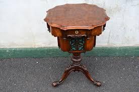 victorian burr walnut sewing table