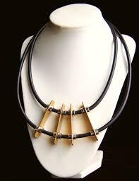 Moderner Designer Schmuck Different Necklace Rubber Jewelry Modern Necklace Geometric