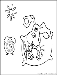 Good Morning Blue Coloring Page
