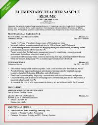 Teacher Resume Skills Section Example Of Formidable Templates
