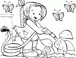 Now print the sheets for the countries as kids color, point out the information it contains such as famous landmarks, country flag, country. Kids Gardening Coloring Pages Coloring Home