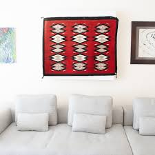 1940 s vintage native american navajo rug table runner wall hanging ganado red
