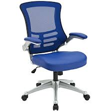 modern office chair. Amazon.com: Modway Attainment Mesh Back And Blue Vinyl Modern Office Chair With Flip-Up Arms - Ergonomic Desk Computer Chair: Kitchen \u0026 Dining F