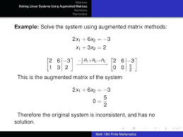 solve matrix mathematica math solution pdf matrices class solutions equation is fun solving systems of linear equations
