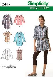 Simplicity Blouse Patterns Stunning Womens Shirt Easy Sewing Pattern 48 Simplicity Easy To Sew