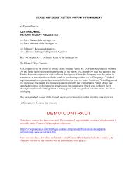 patent infringement cease and desist form notification of regarding cease and desist template
