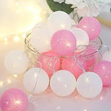 ALUNME 10 LED Warm Light Cotton Ball String Lights ... - Amazon.com