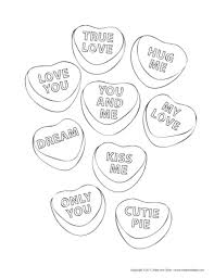 Small Picture Valentine Conversation Heart Tree Coloring Pages U Create Coloring