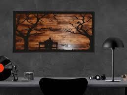 metal home wall decor love tree wood